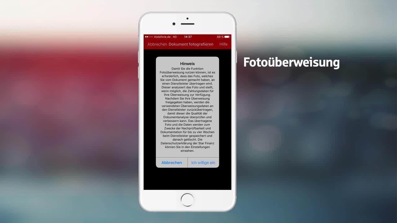 Fotoüberweisung nutzen in der S App   Anleitung   Sparkasse.de